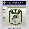 Bass Fishing Decal Sticker Emblem Dark Green Vinyl 120x120