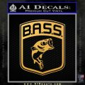 Bass Fishing Decal Sticker Emblem Gold Vinyl 120x120