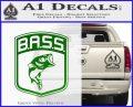 Bass Fishing Decal Sticker Emblem Green Vinyl Logo 120x97