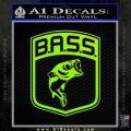 Bass Fishing Decal Sticker Emblem Lime Green Vinyl 120x120