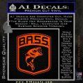 Bass Fishing Decal Sticker Emblem Orange Emblem 120x120