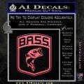 Bass Fishing Decal Sticker Emblem Pink Emblem 120x120