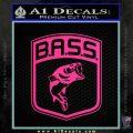 Bass Fishing Decal Sticker Emblem Pink Hot Vinyl 120x120