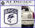 Bass Fishing Decal Sticker Emblem PurpleEmblem Logo 120x97
