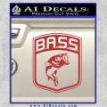 Bass Fishing Decal Sticker Emblem Red 120x120