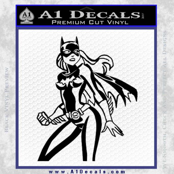 Bat Girl Hot Batgirl Decal Sticker Black Vinyl