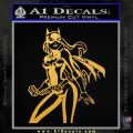 Bat Girl Hot Batgirl Decal Sticker Gold Vinyl 120x120