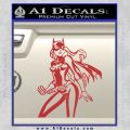 Bat Girl Hot Batgirl Decal Sticker Red 120x120