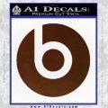 Beats By Dre Decal Sticker BROWN Vinyl 120x120