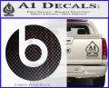 Beats By Dre Decal Sticker Carbon FIber Black Vinyl 120x97