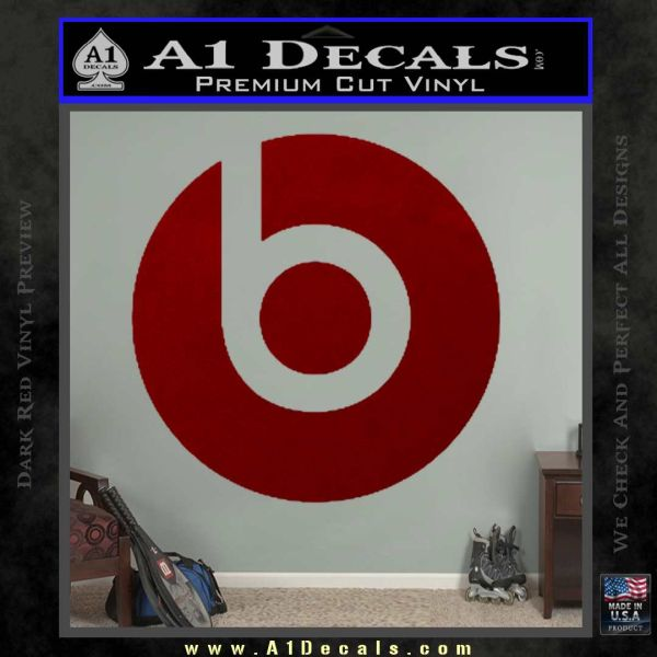 Beats By Dre Decal Sticker DRD Vinyl
