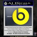 Beats By Dre Decal Sticker Yellow Laptop 120x120