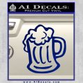 Beer Mug Decal Sticker Blue Vinyl 120x120