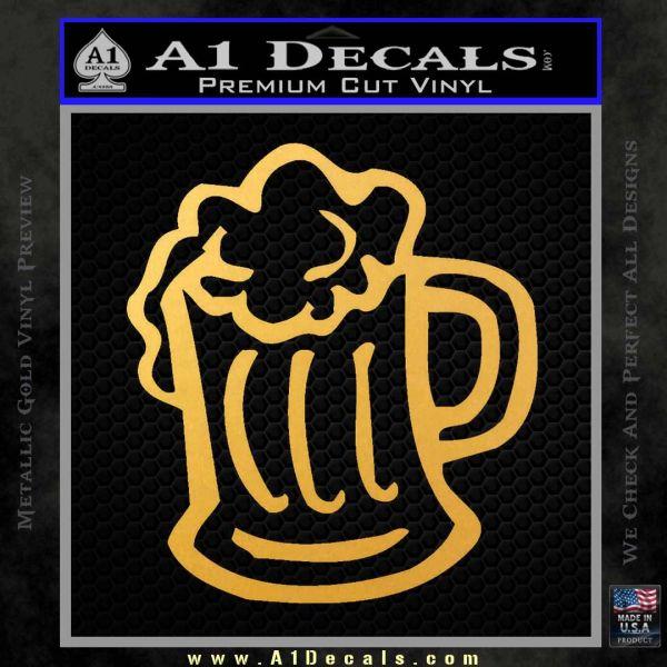 Beer Mug Decal Sticker 187 A1 Decals
