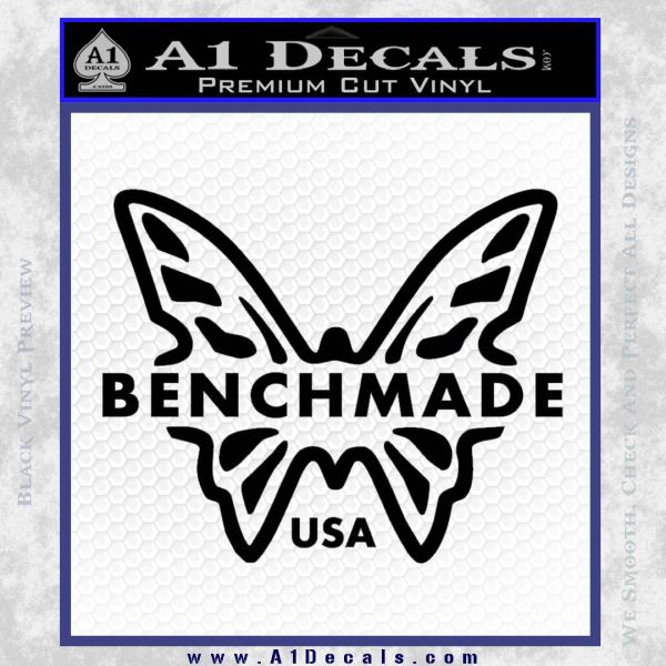 Benchmade Knives Butterfly D1 Decal Sticker 187 A1 Decals