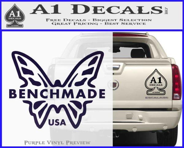 Outdoors etc Knives Car Bumper Sticker BENCHMADE Vinyl Decal Truck Windows