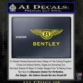 Bently Motors Stacked Decal Sticker Yellow Laptop 120x120