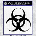 Bio Hazard Decal Sticker Black DO Vinyl Black 120x120