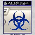 Bio Hazard Decal Sticker DO Blue Vinyl Black 120x120