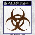 Bio Hazard Decal Sticker DO Brown Vinyl Black 120x120