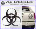 Bio Hazard Decal Sticker DO CFB Vinyl Black 120x97