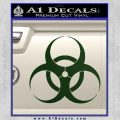 Bio Hazard Decal Sticker DO Dark Green Vinyl Black 120x120