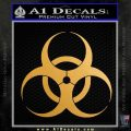 Bio Hazard Decal Sticker DO Gold Metallic Vinyl Black 120x120