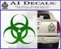 Bio Hazard Decal Sticker DO Green Vinyl Black 120x97