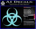 Bio Hazard Decal Sticker DO Light Blue Vinyl Black 120x97