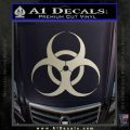 Bio Hazard Decal Sticker DO Metallic Silver Vinyl Black 120x120