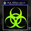 Bio Hazard Decal Sticker DO Neon Green Vinyl Black 120x120