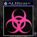 Bio Hazard Decal Sticker DO Neon Pink Vinyl Black 120x120
