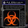 Bio Hazard Decal Sticker DO Orange Emblem Black 120x120