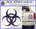 Bio Hazard Decal Sticker DO Purple Vinyl Black 120x97