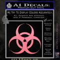 Bio Hazard Decal Sticker DO Soft Pink Emblem Black 120x120