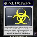 Bio Hazard Decal Sticker DO Yellow Vinyl Black 120x120