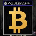 Bitcoin D1 Decal Sticker Gold Vinyl 120x120