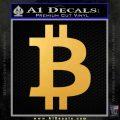 Bitcoin D1 Decal Sticker Gold Vinyl 120x120