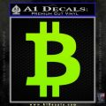 Bitcoin D1 Decal Sticker Lime Green Vinyl 120x120