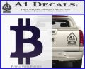 Bitcoin D1 Decal Sticker PurpleEmblem Logo 120x97