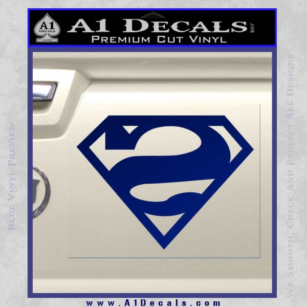 Bizarro Decal Sticker Blue Vinyl