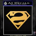 Bizarro Decal Sticker Gold Vinyl 120x120