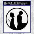 Bleach Ichigo Rukia Decal Sticker Black Vinyl 120x120