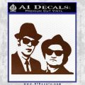 Blues Brothers Decal Sticker BROWN Vinyl 120x120