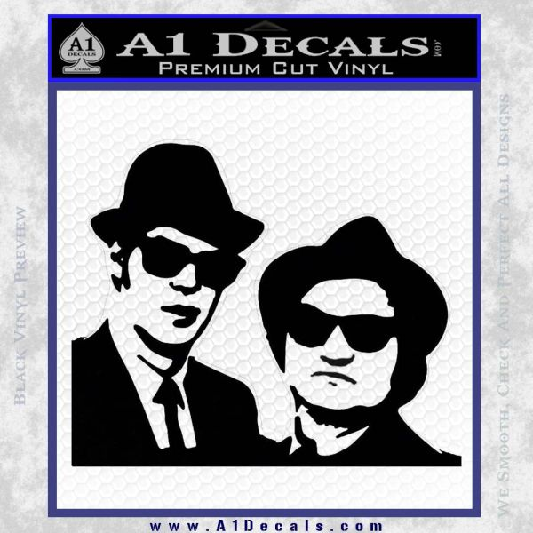 Blues Brothers Decal Sticker Black Vinyl