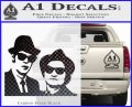 Blues Brothers Decal Sticker Carbon FIber Black Vinyl 120x97