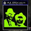 Blues Brothers Decal Sticker Lime Green Vinyl 120x120