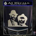 Blues Brothers Decal Sticker Metallic Silver Emblem 120x120