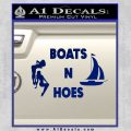 Boats And Hoes Decal Sticker Blue Vinyl 120x120