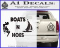 Boats And Hoes Decal Sticker Carbon FIber Black Vinyl 120x97